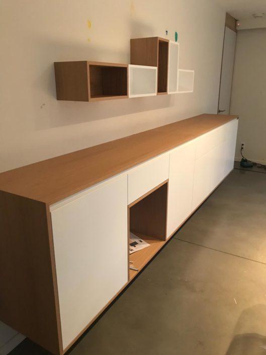 Réalisation meuble de rangement en bois sur mesure